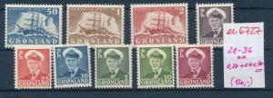 Grönland Nr. 28-36 ** /2 Werte *   (ee6727  ) siehe scan