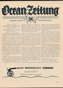 Ozean Zeitung -historische Schrift ...( bg2664  ) siehe scan