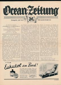 Ozean Zeitung -historische Schrift ...( bg2662  ) siehe scan