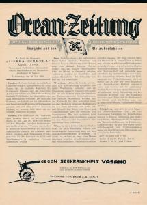 Ozean Zeitung -historische Schrift ...( bg2663  ) siehe scan