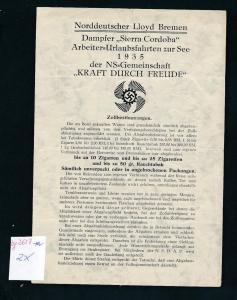 Zollbestimmung LLoyd Bremen -historische Schrift ...( bg2657  ) siehe scan