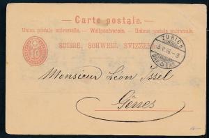 Schweiz- alte Ganzsache  ....(op1663    ) siehe scan