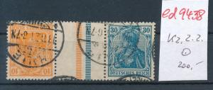D.-Reich Zdr.  kz 2.2   o ....   (ed9438  ) siehe scan