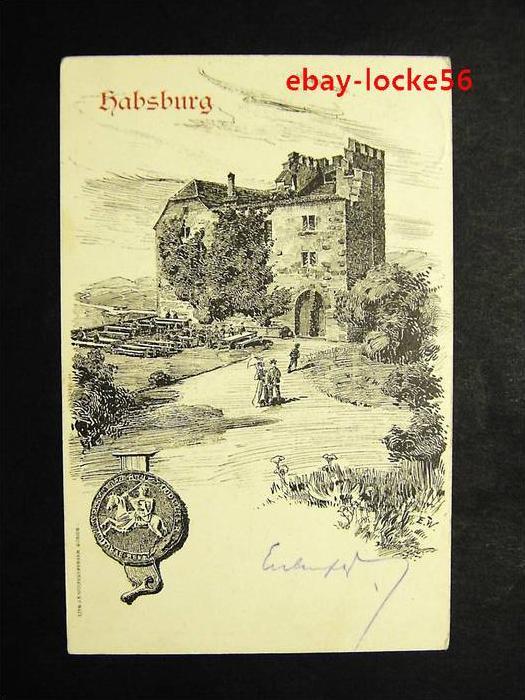 HABSBURG - Aargau - Künstler-AK Schloss