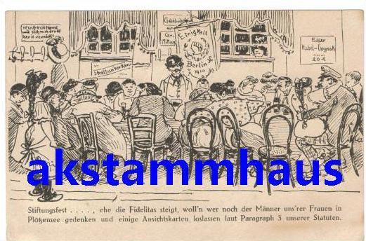 Heinrich ZILLE - Stiftungsfest - Spruch - Gedenken an Männer in Plötzensee