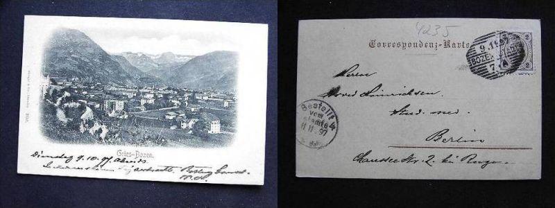 BOZEN Bolzano Südtirol - Gries - 1897!