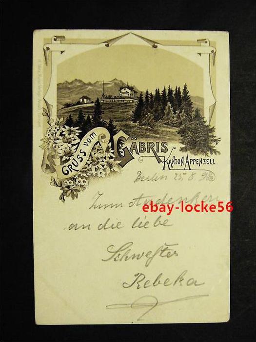 GÄBRIS - Appenzell - Vorläufer Litho - 1898