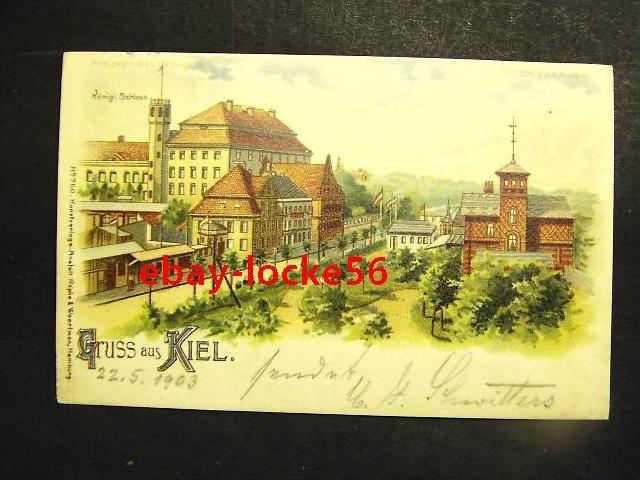 KIEL - Litho - Schloß, HALT GEGEN DAS LICHT - Transparent Card METEOR
