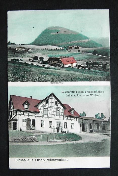 OBER-REIMSWALDAU Rybnica Lesna Waldenburg - z. B. Restauration - col. - 1914