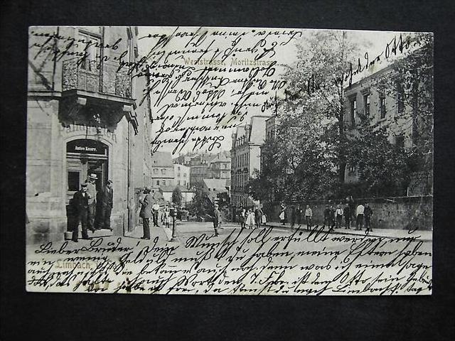 LIMBACH Sa. - West- / Moritzstr. PALMGARTEN - toll belebt! - 1904