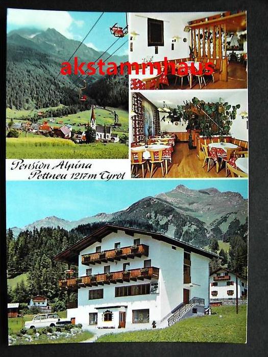 PETTNAU am Arlberg Tirol - Pension ALPINA + innen - Fam. FALCH - Auto - Sessellift