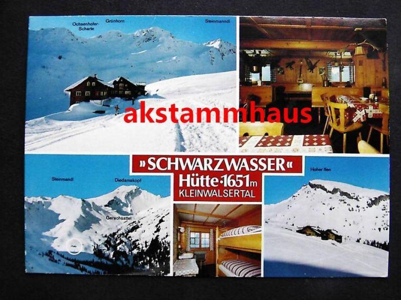 HIRSCHEGG Mittelberg Vorarlberg - SCHWARZWASSERHÜTTE + innen