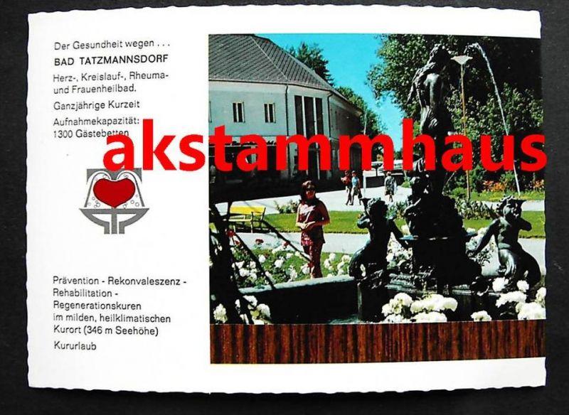 BAD TATZMANNSDORF Burgenland - Kurkommission Brunnen