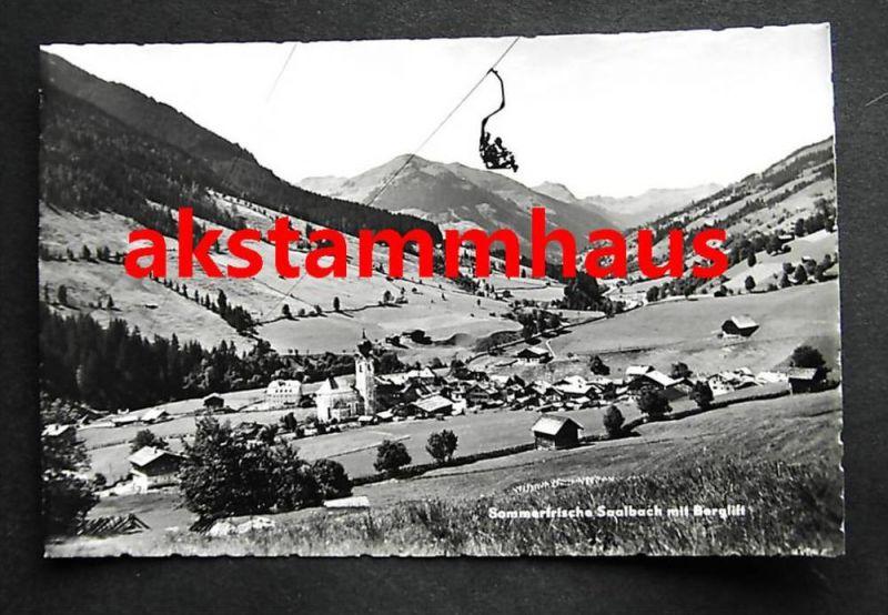 SAALBACH HINTERGLEMM Salzburg - Foto-AK - Talblick m. Berglift Sessellift