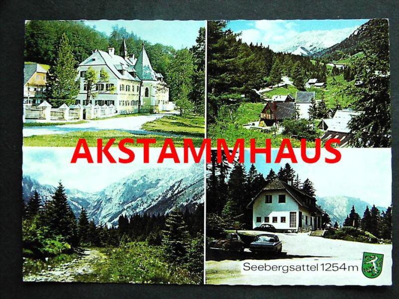 SEEWIESEN Turnau Bruck Mürzzuschlag Steiermark - Foto-AK - Seebergsattel Gasthof KNOLL