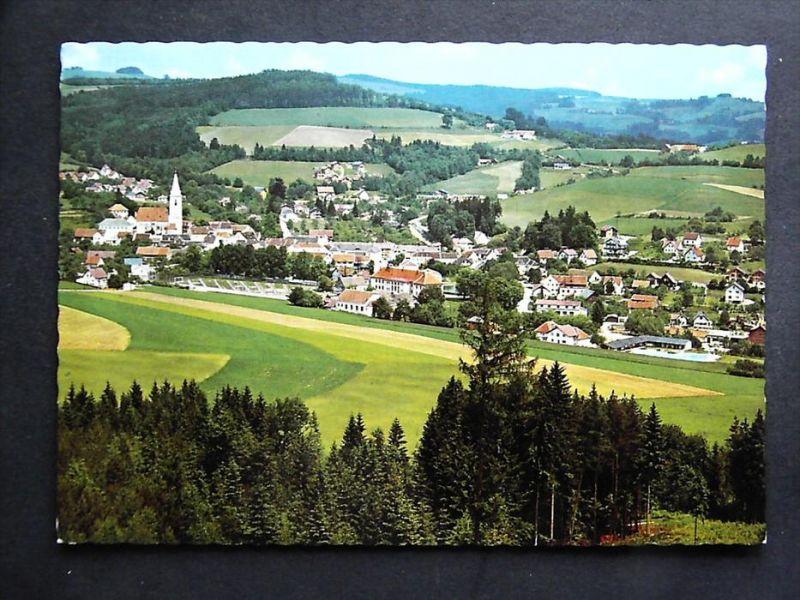 KRUMBACH Bregenzer Wald Bregenz Vorarlberg - Teilansicht m. Freibad - 1977