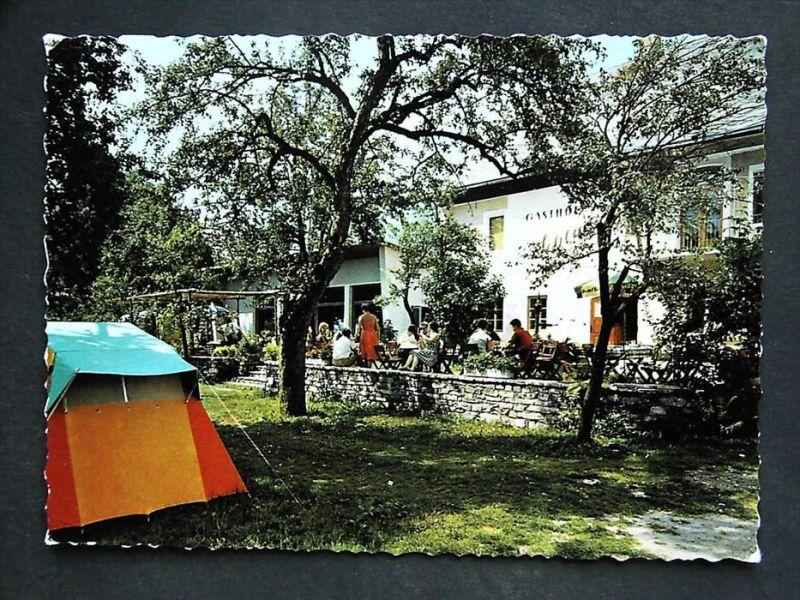 HERMAGOR Gailtal Kärnten -  Vellach - Gasthof Campingplatz SCHLUGA Camping Presseggersee - 1963