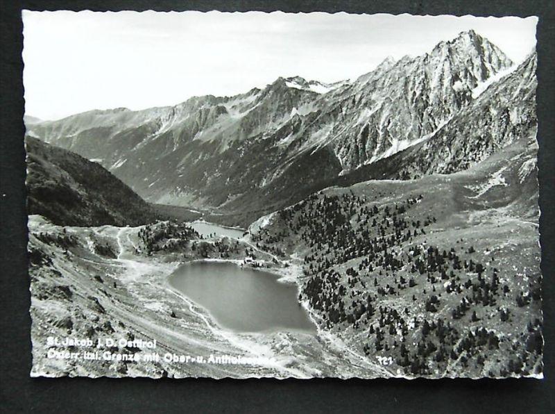 ST. JAKOB Defereggen Lienz Tirol - Foto-AK - Ober- u. Antholzersee - Grenzgebiet