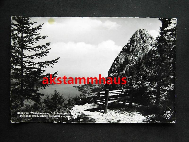 WEISSENBACH AM ATTERSEE Steinbach VÖCKLABRUCK Oberösterreich - Foto-AK - Blick v. Wanderweg Schoberstein - 1963