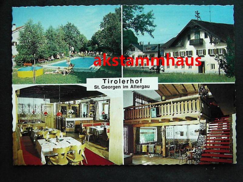 GEORGEN IM ATTERGAU Vöcklabruck Oberösterreich   Gasthof Pension TIROLERHOF  + Innen   Fam.