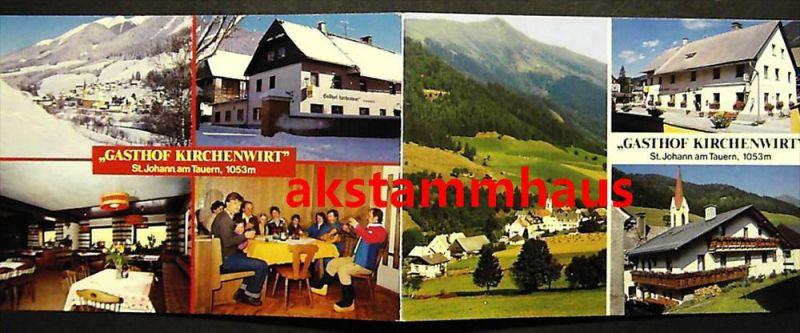 SANKT JOHANN AM TAUERN Murtal Judenburg Steiermark - Doppel-AK Klappkarte - Gasthof KIRCHENWIRT