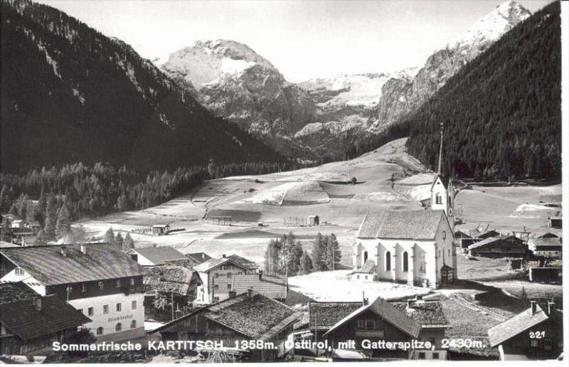 KARTITSCH Lienz Tirol - Foto-AK - Ortspartie m. DOLOMITENHOF - 1962