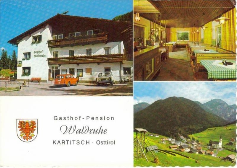 KARTITSCH Lienz Tirol - Gasthof Pension WALDRUHE + innen  - 1973