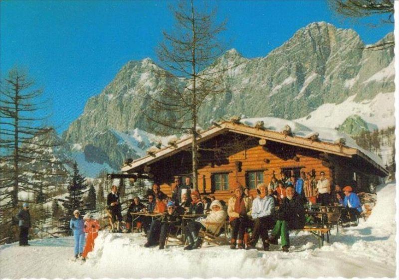 RAMSAU am Dachstein Liezen Steiermark - Jausenstation BRANDALM im Winter - toll belebt!