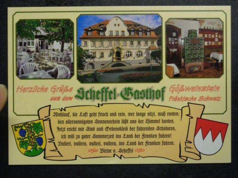 Gössweinstein Forchheim Scheffel Gasthof Innen Kachelofen Gedicht Scheffel