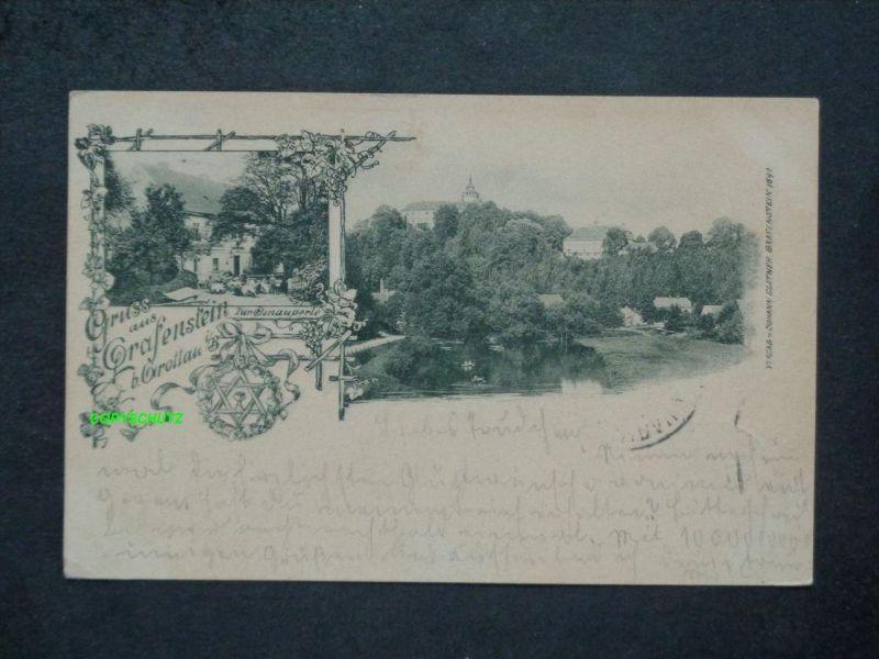 GRAFENSTEIN Grabštejn Grottau Reichenberg - z. B. Gasthaus ZUR DONAUPERLE - 1900
