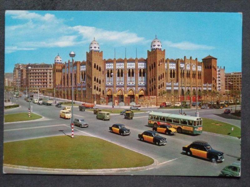 AUTOBUS  - Spanien Espagna - Barcelona - Stierkampfplatz - Autos LKW Taxi