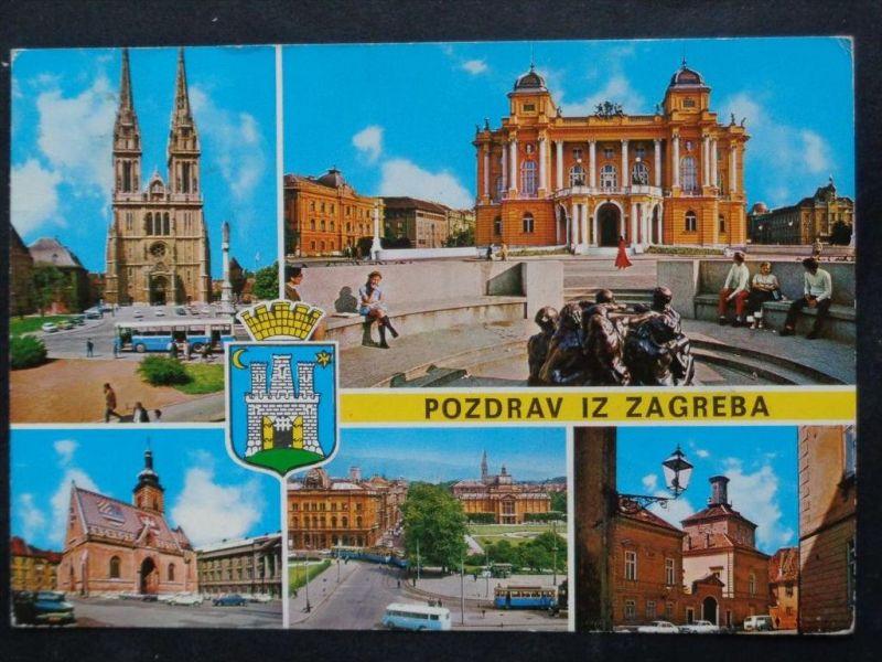 AUTOBUS - Kroatien Croatia - Zagreb - Ortspartien - Autos - 1982