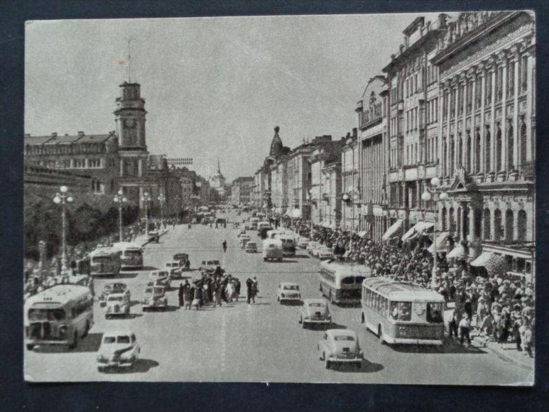 AUTOBUS - Russland Russia - Leningard -  Nevskij Prospekt - Autos O-Bus - ca. 1959
