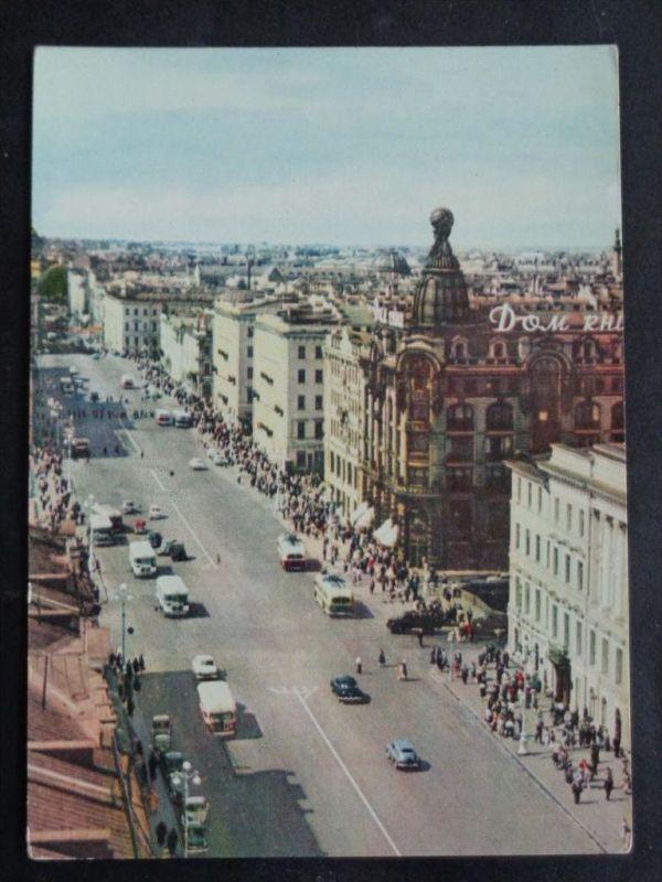 AUTOBUS - Russland Russia - Leningard -  Nevskij Prospekt - Autos LKW O-Bus - ca. 1964