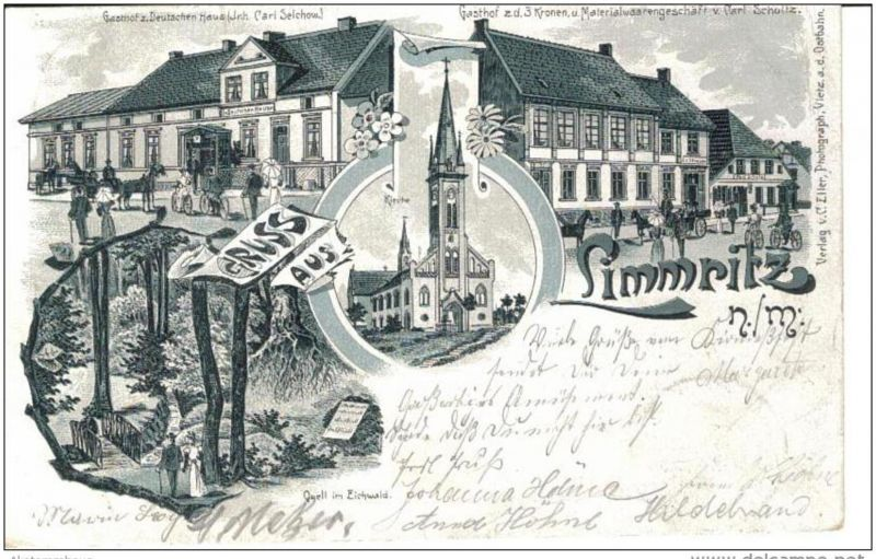LIMMRITZ N.M. Lemierzyce Slonsk Zielenzig Sulecin - Litho - z. B. Gasthof - 1900