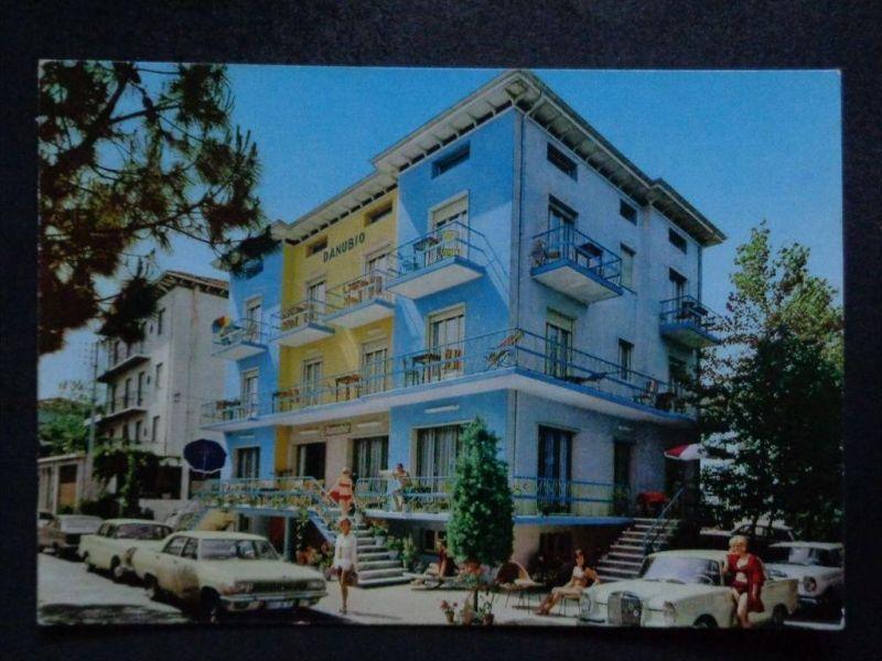 RICCIONE Rimini Emilia-Romagna - HoteL DANUBIO Autos ! z. B  DAIMLER  - 1972