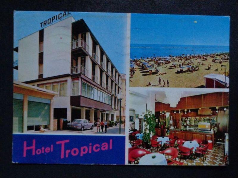 GATTEO MARE Forli-Cesena  Emilie Romagna -  Hotel TROPICAL + innen - Auto ! - 1978