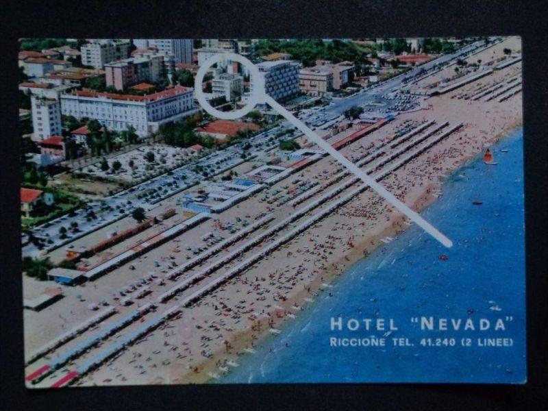 RICCIONE Rimini Emilia-Romagna - Luftbild Luftaufnahme Hotel NEVADA u. a.