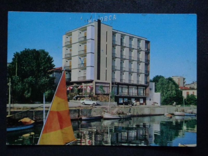 GABICCE MARE Pesaro und Urbino Marken - Hotel MAJORCA Autos Boote - 1966