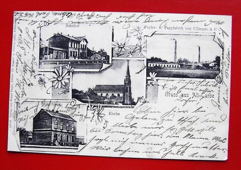 ALT-CARBE Altcarbe Stare Kurowo Friedeberg - z. B. Bahnhof - Fabrik -1902