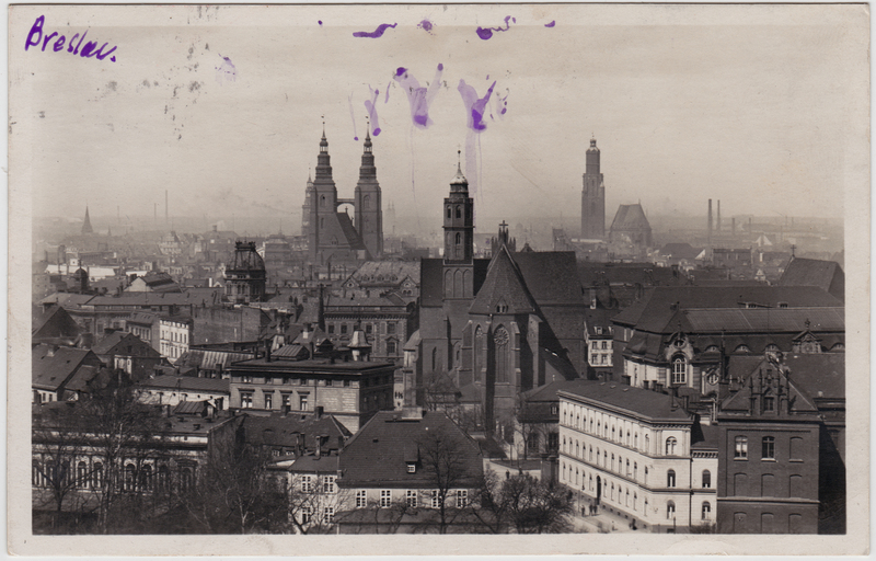 Breslau Karte 1930.Breslau Wroclaw Blick Uber Die Stadt Strassenblick Foto Ansichtskarte 1930