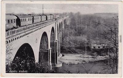 Ansichtskarte  Görlitz Zgorzelec Viadukt mit Eisenbahn 1949