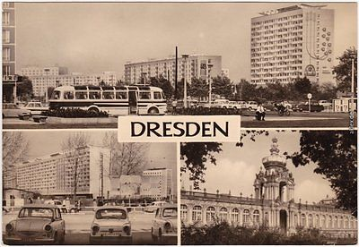 Dresden Rathaus, Christianenstraße  parkenden Pkw's - Trabant P50 1970
