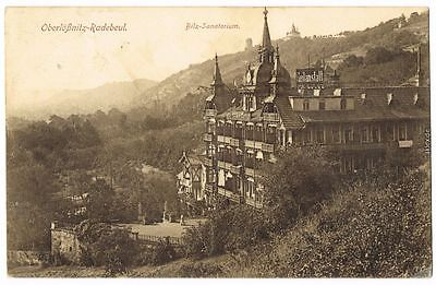 Ansichtskarte Radebeul Blick auf das Bilz-Sanatorium b Dresden 1917
