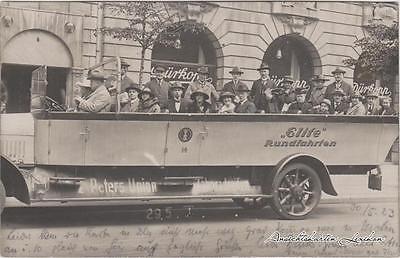 Potsdam Berlin Elite Stadtrundfahrt Foto Ansichtskarte Bus 1923 0