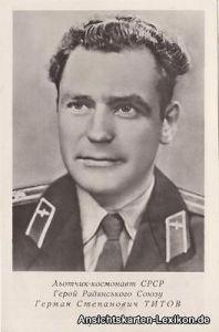 Fliegerkosmonaut German Tirow Ansichtskarte Russia Rußland UDSSR 1961 0