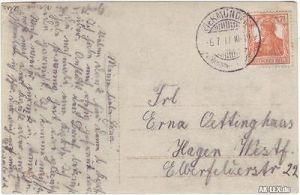 Frau Ovalporträt Ansichtskarte Fotokunst 1917 1