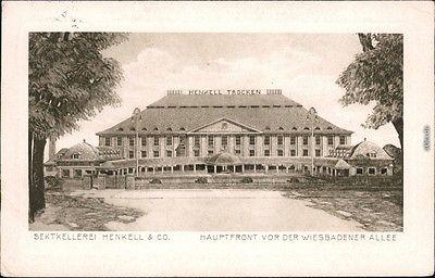 Biebrich-Wiesbaden Sektkellerei Henkell - Hauptfront - Wiesbadener Allee 1914