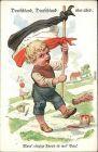 Ansichtskarte  Kind - Patriotika - Deutschland Deutschland über alles 1917