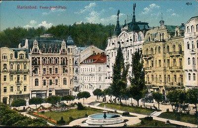 Postkarte Ansichten Marienbad Franz Josef Platz Ehemalige Dt. Gebiete